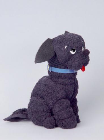 Собака чорний